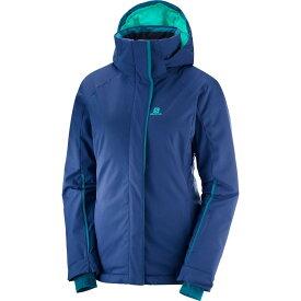 【残り一点限り!】【サイズ:M】サロモン Salomon【Stormpunch Ski Jacket 2019 Medieval Blue】レディース スキー・スノーボード アウター【あす楽】
