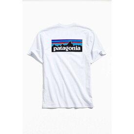 【残り一点限り!】【サイズ:サイズ L】パタゴニア Patagonia【P-6 Logo Tee White】メンズ トップス Tシャツ【あす楽】