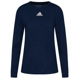【残り一点限り!】【サイズ:S】アディダス Adidas【adidas Team Amplifier Long Sleeve T-Shirt Collegiate Navy】レディース トップス 長袖Tシャツ【あす楽】