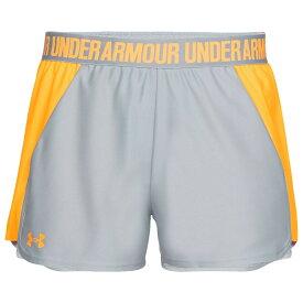 【残り一点限り!】【サイズ:M】アンダーアーマー Under Armour Golf【Under Armour Play Up Shorts 2.0 Mod Grey/Mango Orange】レディース フィットネス・トレーニング ボトムス・パンツ【あす楽】