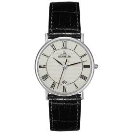 【残り一点限り!】【サイズ:Onesize】ミッシェル エルブラン【Michel Herbelin Sonates Black Leather Strap】メンズ 腕時計【あす楽】