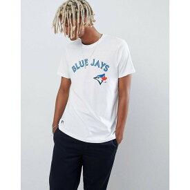 【残り一点限り!】【サイズ:XS】ニューエラ New Era【MLB Blue Jays T-Shirt With Arch Logo In White】メンズ トップス Tシャツ【あす楽】