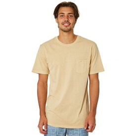 リズム Rhythm メンズ トップス Tシャツ【Everyday Wash Tee】Sunbleached yellow