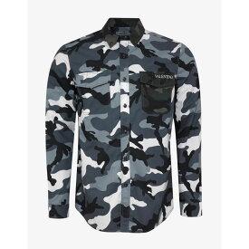 ヴァレンティノ Valentino メンズ トップス シャツ【Camouflage Shirt】Grey