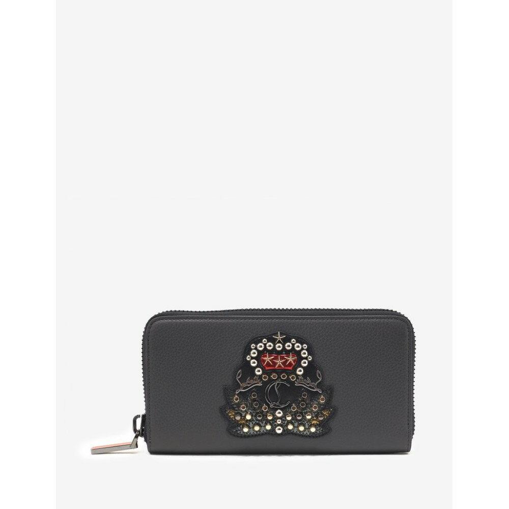 クリスチャン ルブタン Christian Louboutin メンズ 財布【Panettone Charbon Leather Wallet with Crest】Grey