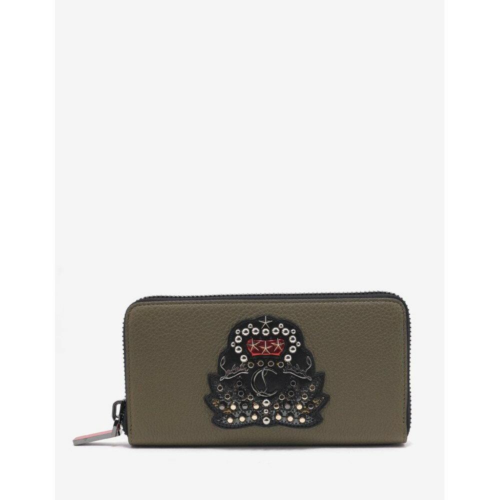 クリスチャン ルブタン Christian Louboutin メンズ 財布【Panettone Poivre Vert Leather Wallet with Crest】Green