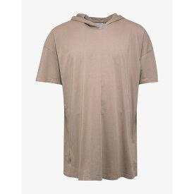 フェイス コネクション Faith Connexion メンズ トップス Tシャツ【Oversize Hooded Tag T-Shirt】Beige