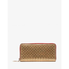 3494d8f91d7314 クリスチャン ルブタン Christian Louboutin メンズ 財布【Panettone Gold Liege Pepite Spikes  Wallet】Gold