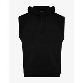ラフ シモンズ Raf Simons メンズ トップス ノースリーブ【Black Sleeveless Print Hoodie】Black