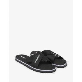 ディースクエアード Dsquared2 メンズ シューズ・靴 サンダル【Black Logo Cross Strap Sandals】Black