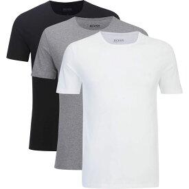 ヒューゴ ボス BOSS メンズ Tシャツ トップス【three pack t -shirts - assorted】White/Grey/Black