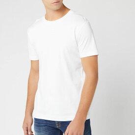 ヒューゴ ボス BOSS メンズ Tシャツ トップス【talbo vertical small logo t-shirt - white】White