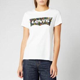 リーバイス Levi's レディース Tシャツ トップス【the perfect t-shirt - hsmk dunsmuir floral fill white】White
