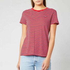リーバイス Levi's レディース Tシャツ トップス【perfect t-shirt - koronis brilliant red】Red