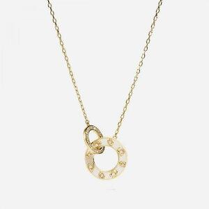コーチ Coach レディース ネックレス ジュエリー・アクセサリー【Pegged Enamel C 20 Necklace】Gold/White
