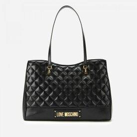 モスキーノ Love Moschino レディース トートバッグ バッグ【quilted shopper bag - black】Black