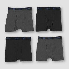 ヘインズ Hanes Premium メンズ ボクサーパンツ インナー・下着【X-Temp Shorts Leg Boxer Briefs 4pk】