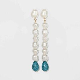 バウブルバー SUGARFIX by BaubleBar レディース イヤリング・ピアス ドロップピアス ジュエリー・アクセサリー【Pearl Drop Earrings - Turquoise/Pearl】