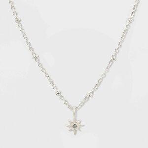 ターゲット target レディース ネックレス チャーム ジュエリー・アクセサリー【Starburst Charm Short Necklace - Silver】