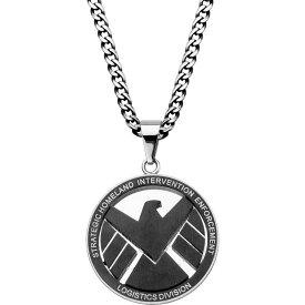 """マーベル Marvel メンズ ネックレス ジュエリー・アクセサリー【Agent of S.H.I.E.L.D Stainless Steel Engraved Logo Pendant with Chain (24"""")】"""