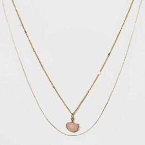 ユニバーサルスレッド Universal Thread レディース ネックレス チャーム ジュエリー・アクセサリー【Two Row Layered Charm Necklace -】Gold