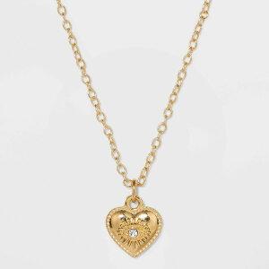ワイルドファブル Wild Fable レディース ネックレス チャーム ハート ジュエリー・アクセサリー【Heart with Evil Eye Charm Necklace - Gold】
