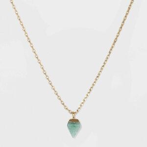 ユニバーサルスレッド Universal Thread レディース ネックレス チャーム ジュエリー・アクセサリー【Semi-Precious Gold Charm Necklace -】Green