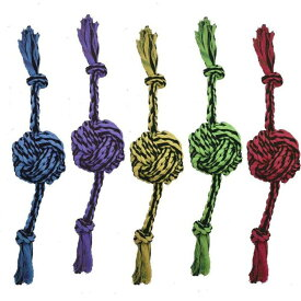 Multipet マルチペット ペットグッズ 犬用品 おもちゃ 【Nuts for Knots 2 Knot Rope w/Ball Dog Toy】Assorted