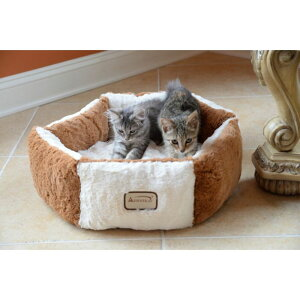 Armarkat アーマーカット ペットグッズ 犬用品 ベッド・マット・カバー ベッド【Silky Soft Brown and Ivory Pet Bed】Brown/Ivory