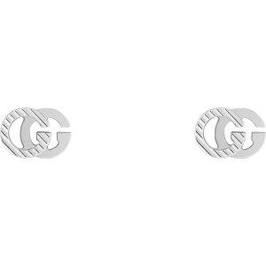 グッチ GUCCI レディース イヤリング・ピアス スタッドピアス ジュエリー・アクセサリー【Running G 18K Gold Stud Earrings】White Gold