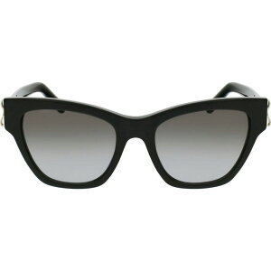 サルヴァトーレ フェラガモ SALVATORE FERRAGAMO レディース メガネ・サングラス 【53mm Gradient Rectangle Sunglasses】Black/Grey