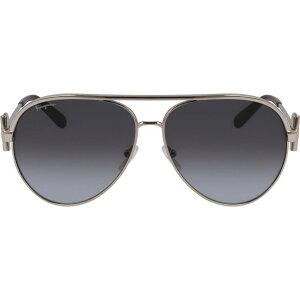 サルヴァトーレ フェラガモ SALVATORE FERRAGAMO レディース メガネ・サングラス アビエイター【60mm Gradient Aviator Sunglasses】Rose Gold/Grey Gradient