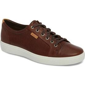 エコー ECCO メンズ スニーカー レースアップ シューズ・靴【Soft VII Lace-Up Sneaker】Whisky Leather