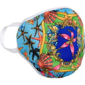 ヴェルサーチ VERSACE レディース 雑貨 デザインマスク ブランド【Adult Tresor de la Mer Face Mask】Blue/Green