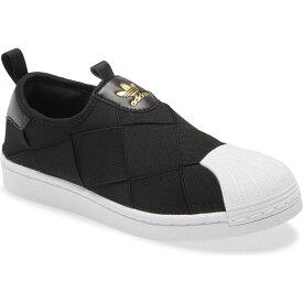 アディダス ADIDAS レディース スリッポン・フラット スニーカー シューズ・靴【Superstar Slip-On Sneaker】Core Black/White/Gold
