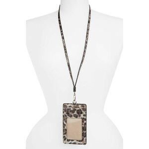 ノードストローム NORDSTROM メンズ カードケース・名刺入れ ネックストラップ【Alessi Animal Print Lanyard Card Case】Grey Crystal Leopard