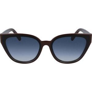 サルヴァトーレ フェラガモ SALVATORE FERRAGAMO レディース メガネ・サングラス キャットアイ【63mm Oversize Gradient Cat Eye Sunglasses】Burgundy/Blue Gradient