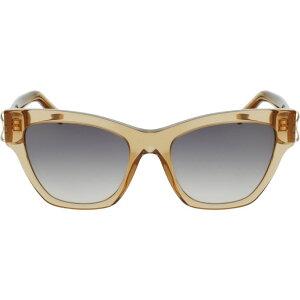 サルヴァトーレ フェラガモ SALVATORE FERRAGAMO レディース メガネ・サングラス 【53mm Gradient Rectangle Sunglasses】Caramel/Green
