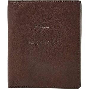 フォッシル FOSSIL ユニセックス パスポートケース 【Leather Passport Case】Black