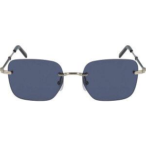サルヴァトーレ フェラガモ SALVATORE FERRAGAMO レディース メガネ・サングラス スクエアフレーム【54mm Rimless Square Sunglasses】Shiny Gold Black