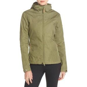 フェールラーベン FJALLRAVEN レディース ジャケット フード アウター【'Stina' Hooded Water Resistant Jacket】Green