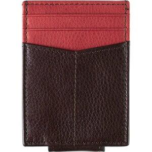 ジョンストン&マーフィー JOHNSTON & MURPHY メンズ カードケース・名刺入れ マネークリップ付き【Leather Money Clip Card Case】Brown