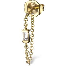 マリアタシュ MARIA TASH レディース イヤリング・ピアス スタッドピアス ジュエリー・アクセサリー【Diamond Baguette Chain Wrap Stud Earring】Yellow Gold