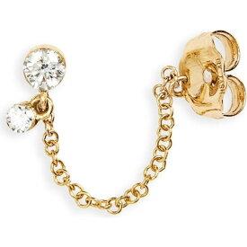 マリアタシュ MARIA TASH レディース イヤリング・ピアス スタッドピアス ジュエリー・アクセサリー【Invisibly Set Diamond Dangle & Chain Stud Earring】Yellow Gold