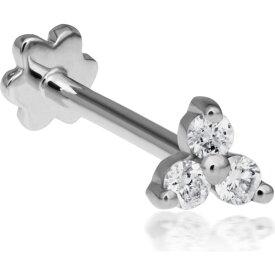 マリアタシュ MARIA TASH レディース イヤリング・ピアス スタッドピアス ジュエリー・アクセサリー【Diamond Trinity Threaded Stud Earring】White Gold