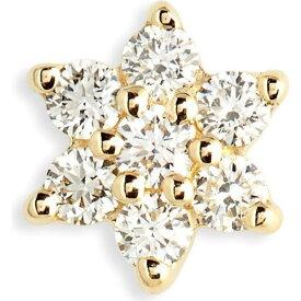 マリアタシュ MARIA TASH レディース イヤリング・ピアス スタッドピアス ジュエリー・アクセサリー【Single Diamond Flower Stud Earring】Yellow Gold