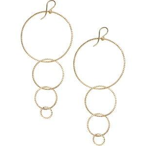 ナシェル NASHELLE レディース イヤリング・ピアス ドロップピアス ジュエリー・アクセサリー【Twisted Hoops Drop Earrings】Gold