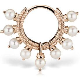 マリアタシュ MARIA TASH レディース ジュエリー・アクセサリー 【Coronet Pearl Clicker】Rose Gold