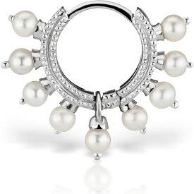 マリアタシュ MARIA TASH レディース ジュエリー・アクセサリー 【Coronet Pearl Clicker】White Gold