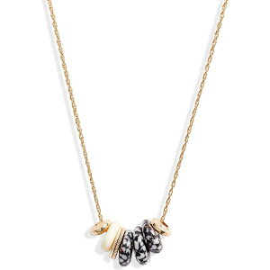 アコラ AKOLA レディース ネックレス チャーム ジュエリー・アクセサリー【Nala Charm Necklace】Black/White